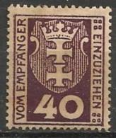 Timbres - Allemagne - Etranger - Dantzig - Service - 1921-1923 - 40 P. -