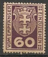 Timbres - Allemagne - Etranger - Dantzig - Service - 1921-1923 - 60 P. -