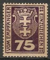 Timbres - Allemagne - Etranger - Dantzig - Service - 1921-1923 - 75 P. -