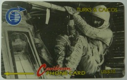 TURKS & CAICOS - GPT - 2CJGB - $10 - T&C-2B - Entering Capsule - 5000ex - Used