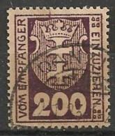 Timbres - Allemagne - Etranger - Dantzig - Service - 1921-1923 - 200 P. -