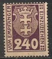 Timbres - Allemagne - Etranger - Dantzig - Service - 1921-1923 - 240 P. -