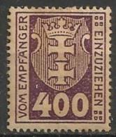 Timbres - Allemagne - Etranger - Dantzig - Service - 1921-1923 - 400 P. -