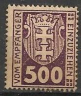 Timbres - Allemagne - Etranger - Dantzig - Service - 1921-1923 - 500 P. -