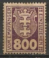 Timbres - Allemagne - Etranger - Dantzig - Service - 1921-1923 - 800 P. -