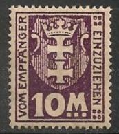 Timbres - Allemagne - Etranger - Dantzig - Service - 1921-1923 - 10 M. -