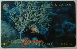 TURKS & CAICOS - GPT - 4CTCA - $10 - T&C-4A - Redband Parrotfish - Used