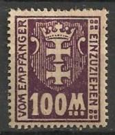 Timbres - Allemagne - Etranger - Dantzig - Service - 1921-1923 - 100 M. -