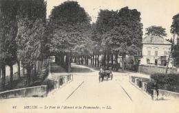 Melun (Seine-et-Marne) - Le Pont De L'Amont Et Les Promenades, Calèche - Carte LL N°41 - Melun