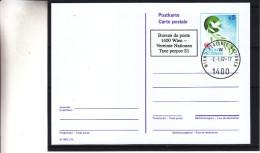 Colombe - Nations Unies - Vienne - Carte Postale De 1992 - Entier Postal - Oblit Wien Vereinte Natione - Valeur 9 € - Centre International De Vienne