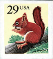 USA 1993 Red Squirrel ATM Stamp Sc#2489 Post - Rodents