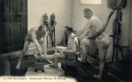 7644 - Séance De Massage à L'établissement Thermal D'Aix Les Bains, Deux Masseurs Et Un Curistei - Aix Les Bains