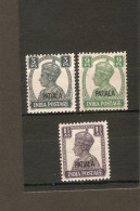 INDIA - PATIALA 1942 3p, 1a, 1½a  SG 103, 106, 108  MOUNTED MINT Cat £8 - Patiala