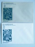 2 Cover From Lithuania Envelope Sarbievijus - Lithuania