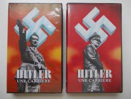 Cassette Vidéo VHS - HITLER Une Carrière - Guerre. Lot De 2 Cassettes - - Documentaire