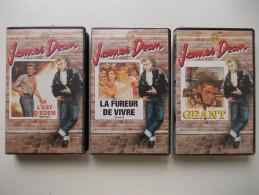 Cassette Vidéo VHS - L'intégrale De James Dean - Lot De 3 Cassettes - - Action, Aventure