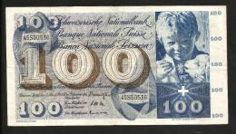 [CC] SVIZZERA / SUISSE / SWITZERLAND - NATIONAL BANK - 100 FRANCS / FRANKEN (1964) SAINT MARTIN - Svizzera