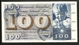 [CC] SVIZZERA / SUISSE / SWITZERLAND - NATIONAL BANK - 100 FRANCS / FRANKEN (1969) SAINT MARTIN - Svizzera