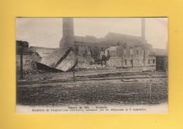 * CPA..dépt 02..SOISSONS  :  Distillerie De Vauxrot  Incendiée Par Les Allemands Le 2 Septembre  : Voir Les 2 Scans - Soissons