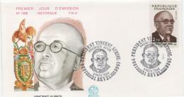 FDC Enveloppe 1er Jour Vincent Auriol, Président  31 Revel 3.11.84 Y-T 2344 - 1980-1989