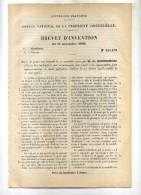 - PISTON-JOINT POUR RESSORT A AIR ...BREVET D´INVENTION DE 1902 . - Máquinas
