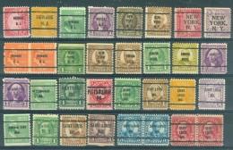U.S.A. -  32 PRECANCELS  - Selection Nr 310 - Stati Uniti