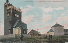 AK Riesengebirge Schneekoppe Gasthof Böhmische Baude Wetterwarte Observatorium Kapelle Stempel Verein 25. Jubiläum 1905 - Sudeten