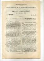 - PERFECTIONNEMENTS AUX SOUPAPES DE SURETE .... BREVET D´INVENTION DE 1902 . - Máquinas