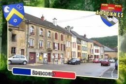 Postcard, Communes Of France, Angecourt, Ardennes - Carte Geografiche