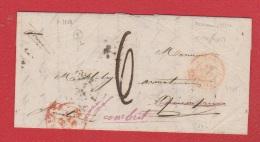 Lettre De Livourne    --  Pour Combrit    -- 19 Sept 1858