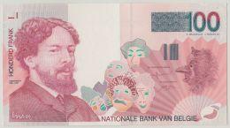 """B00400  100 Francs """"ENSOR"""" Neuf - Signé VERPLAETSE - [ 2] 1831-... : Royaume De Belgique"""