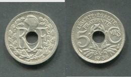 5 CENTIMES LINDAUER 1938 SANS POINT  SUPERBE !!! - France