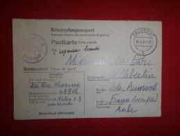 Lettre D'un Prisonnier Du Camp Kriegsgefangenenlager - Cachet Stalag XB, Gepruft - Cad Felpost Du 16/6/1943 - Marcophilie (Lettres)