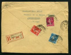 FRANCE ( MARCOPHILIE ) : BEL  AFFRANCHISSEMENT SUR  ENVELOPPE , C A D DU  5  NOVEMBRE  1928 , A    VOIR . - 1921-1960: Période Moderne