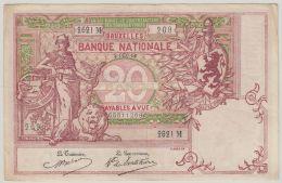B00410  20 Francs TYPE 1894 - 2 Déc 14 - TTB/TB - [ 2] 1831-... : Royaume De Belgique