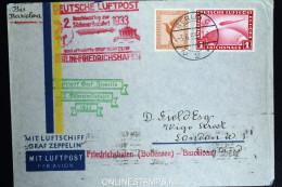 Graf Zeppelin: 2. Sudamerikafahrt 1933 Sieger 214 C   Anschlussflug Berlin  Cover To Barcelona - Luftpost