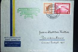Graf Zeppelin: 2. Sudamerikafahrt 1933 Sieger 214 Aa To  Recife - Luftpost