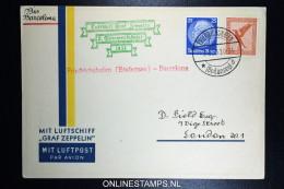 Graf Zeppelin: 2. Sudamerikafahrt 1933 Sieger 214 C To  Barcelona - Luftpost