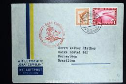 Graf Zeppelin: 4 Sudamerikafahrt 1933 Sieger 223 Aa   To Pernambuco Brasil - Luchtpost