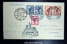 Graf Zeppelin: Saargebietsfahrt 1933 Sieger 217 Ac Stempel Saarbrücken, Ruckfahrt Bordpost - Luftpost