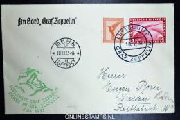 Graf Zeppelin: Schweizfahrt 1933 Sieger 222 Ab  Stempel Bern  Bordpost - Luftpost