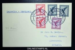 Graf Zeppelin:  Kurzfahrten In Die Schweiz VDI-Kurzfahrt 26-5-1933  1933 Sieger 0206II Bordpost  RRR - Luchtpost