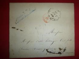 Lettre Avec Cachet Service Du Roi, Cabinet De La Reine, Cursive Bleu, Cad De La Maison Du Roi 30 Aout 1842 - Marcophilie (Lettres)