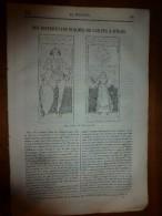 1835 LM :Persécution Des Chrétiens Livrés Aux Lions (gravure);La Place Du Peuple à Rome; Voyage En Amérique De Ross Cox - Books, Magazines, Comics
