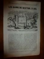 1835 LM :Les Bains De SEXTIUS à AIX; Luxe Des Agrigentins;Métamorphose Gauloise;Anne De Bretagne;Scorpion;ENVOULTEMENT - Livres, BD, Revues