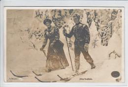 SKI ET HIVER - ANIMEE - 31.12.1912 - - Norvège
