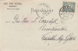 Briefkaart 5 Dec 1906 Roermond  (grootrond) Firmakaart - Marcophilie