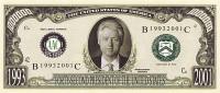 1 000 000 $  Bill CLINTON UNC - Specimen