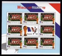 Guyana 1998 Kleinbogen/Minisheet Football/Soccer World Cop France  Mnh .Denmark - Coupe Du Monde