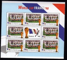 Guyana 1998 Kleinbogen/Minisheet Football/Soccer World Cop France  Mnh .Argentina - Coupe Du Monde
